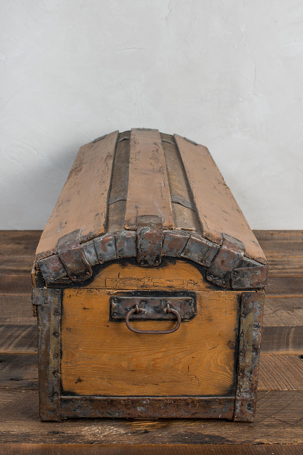 Antique Pine Blanket Chest W Forged Handles D 233 Sirant
