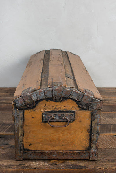 Antique Pine Blanket Chest w/ Forged Handles