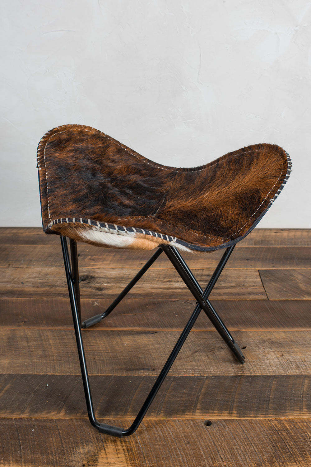 Butterfly Cow Hide Chair With Foot Stool D 233 Sirant