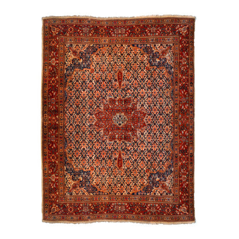Antique Persian Rug - Bold Floral