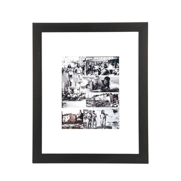French Riviera Black & White Photo Collage