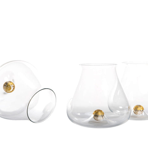 Hand Blown Oro Tumbler