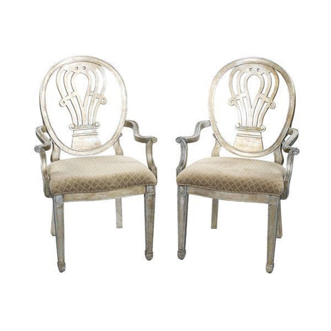 Harp Back Silverleaf Occasional Armchair