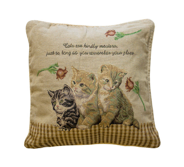 Cat Themed Kitchen Towels: Classic Cat Toss Pillow