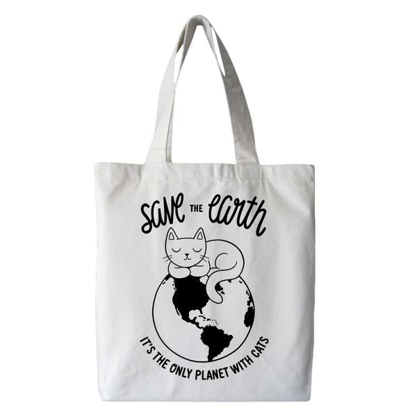 Save the Earth Cat Tote