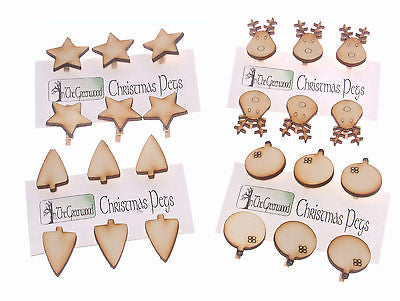 Christmas Peg Clip Decoration Kits - Choice of 4 types