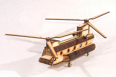 Chinook Helicopter Laser Cut Model Kit