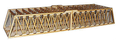 BR009 Twin Track Extra Long Girder Rail Bridge OO Gauge Model Laser Cut Kit