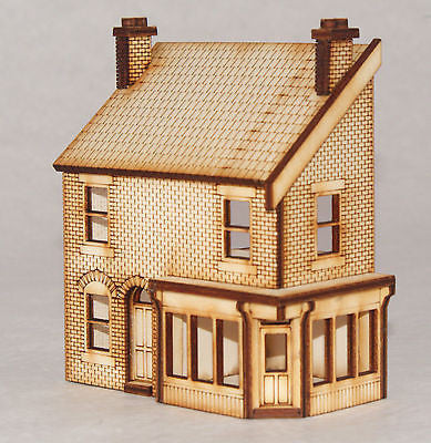 SH004 Low Relief Victorian Shop/Terraced House Right Hand OO Gauge Laser Cut Kit
