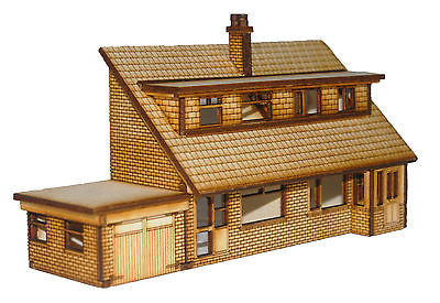 HS005 Semi Detached Dormer Bungalows Front Low Relief OO Gauge Laser Cut Kit