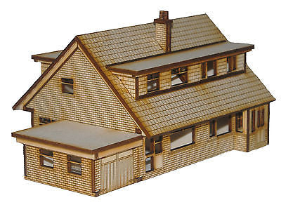 HS004 Semi Detached Dormer Bungalows OO Gauge Laser Cut Kit