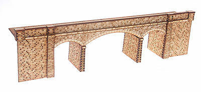 "BR008 ""Connors Bridge"" Low Relief Road over Rail Bridge OO Gauge Laser Cut Kit"