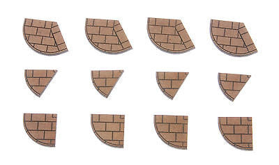 N-PV005 Pavement Corner Sections N gauge Laser Cut Kit - Pack of 4