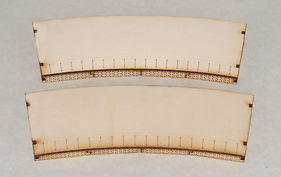 PS010 Single Sided Outer 2nd Radius Curved Platform Twin OO Gauge Laser Cut Kit