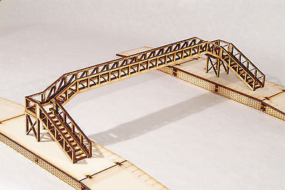 FB003 Platform Footbridge Four Track Span OO Gauge Model Laser Cut Kit