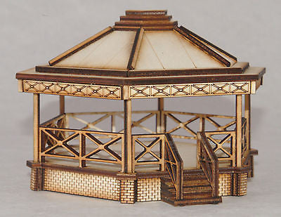 BS002 Bandstand OO Gauge Model Laser Cut Kit