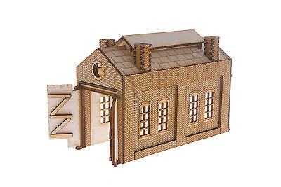 ES006 Single Track Engine Shed OO Gauge Laser Cut Kit
