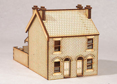 HS001 Victorian Double Terraced Houses OO Gauge Laser Cut Kit