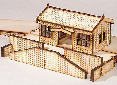 ST002 Small Station Building OO Gauge Laser Cut Kit