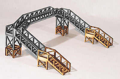 FB005 Footbridge Height Extension OO Gauge Model Laser Cut Kit