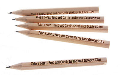 Save The Date Wedding Custom Etched Pencils - Pack of 10