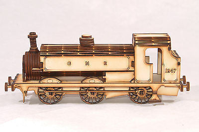 GNR 1247 Steam Train Laser Cut Model Kit