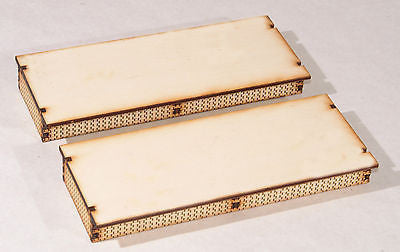 PS007 Plain Surface Platform Twin pack OO Gauge Laser Cut Kit