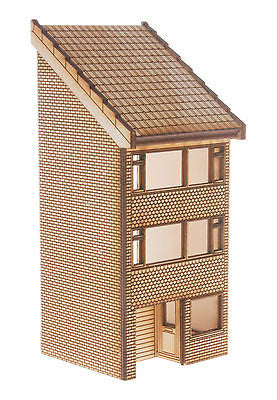 HS008 Low Relief 3 Storey Town House OO Gauge Laser Cut Kit