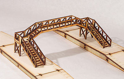 FB001 Platform Footbridge Double Track Span OO Gauge Model Laser Cut Kit