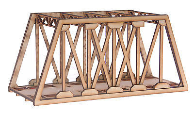 BR004 Single Track Short Girder Rail Bridge OO Gauge Model Laser Cut Kit