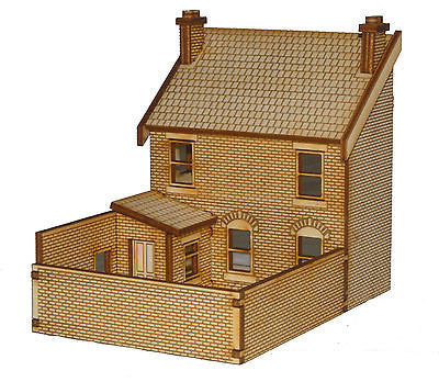PB006 Right Hand Low Relief Rear Victorian Terraced Pub OO Gauge Laser Cut Kit