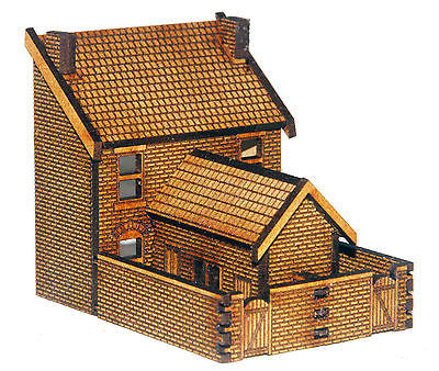 N-HS003 Low Relief Rear Victorian Double Terraced Houses N Gauge Laser Cut Kit