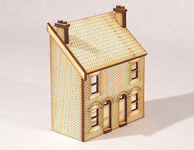 HS002 Low Relief Front Victorian Double Terraced Houses OO Gauge Laser Cut Kit