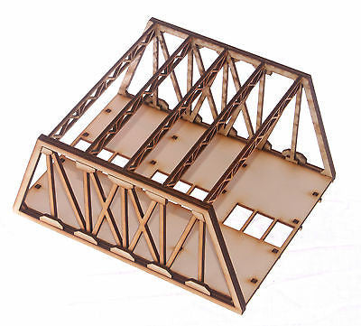 BR003 Twin Track Short Girder Rail Bridge OO Gauge Model Laser Cut Kit