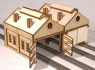 ES002 Engine Shed Twin Pack OO Gauge Laser Cut Kit