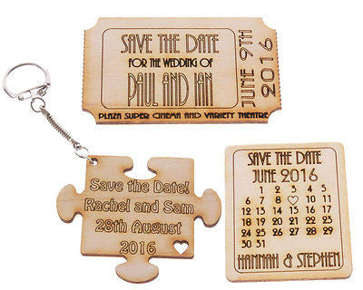 Save the Date Wedding Token / Fridge Magnet / Keyring - Pack of 10