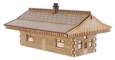 ST003 Mid Sized Island Station Building OO Gauge Laser Cut Kit