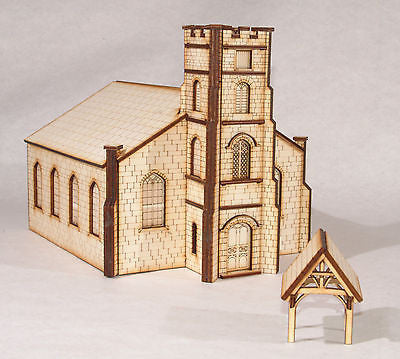 CH001 Parish Church and Lych Gate OO Gauge Model Laser Cut Kit