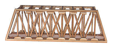 BR006 Single Track Long Girder Rail Bridge OO Gauge Model Laser Cut Kit
