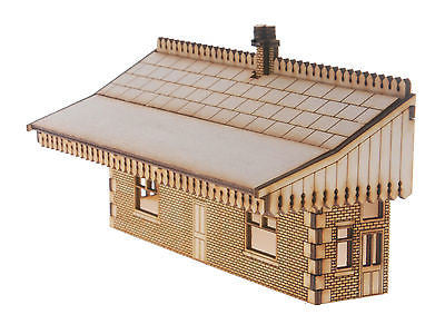 ST004 Mid Sized Low relief Station Building OO Gauge Laser Cut Kit