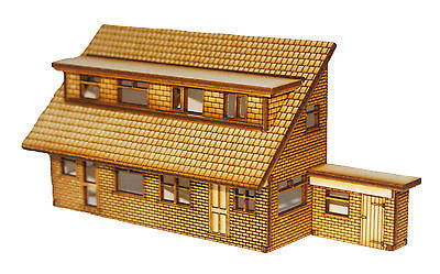 HS006 Semi Detached Dormer Bungalows Rear Low Relief OO Gauge Laser Cut Kit