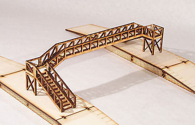 FB002 Platform Footbridge Triple Track Span OO Gauge Model Laser Cut Kit