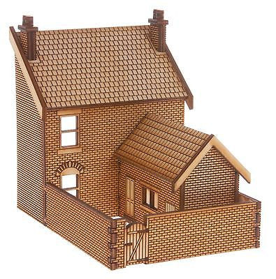 SH007 Victorian Terraced Shop Type 1 Low Relief Rear Yard OO Gauge Laser Cut Kit
