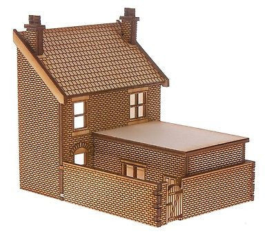 SH019 Victorian Shop Type 3 Right Hand Low Relief Rear OO Gauge Laser Cut Kit