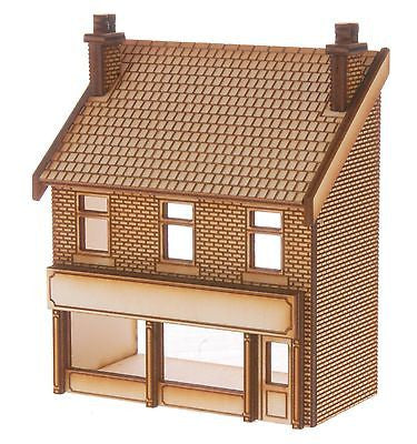 SH017 Victorian Shop Type 3 Low Relief Front Right Hand OO Gauge Laser Cut Kit