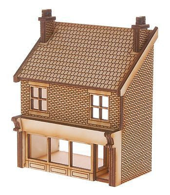 SH011 Victorian Shop Type 2 Low Relief Front Right Hand OO Gauge Laser Cut Kit