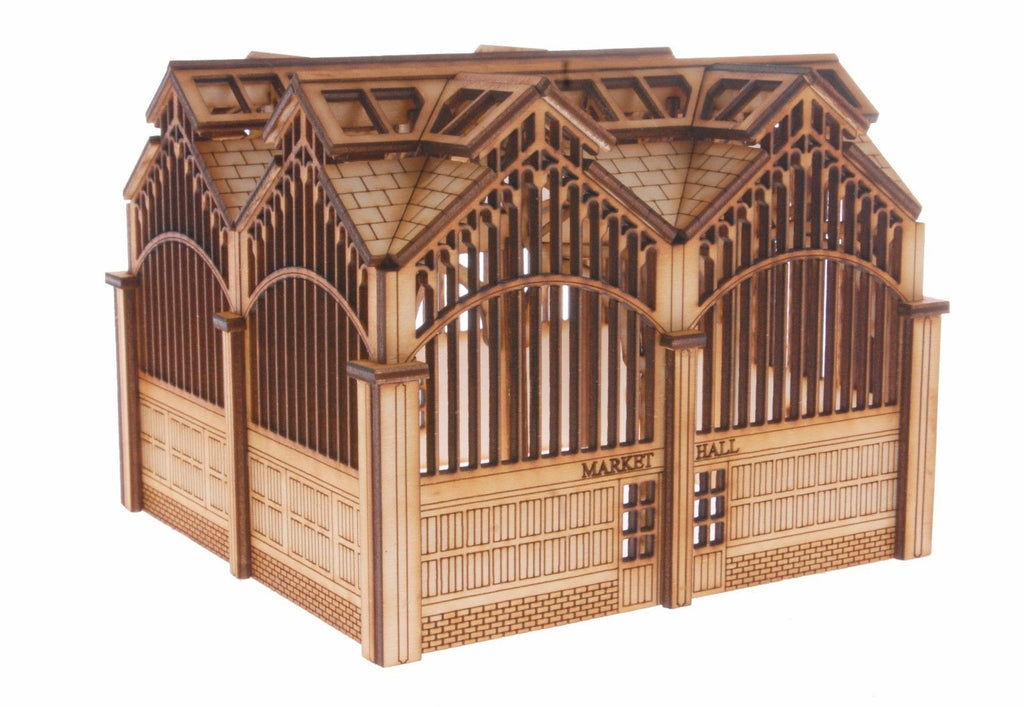 MK001 Market Hall OO Gauge Laser Cut Kit