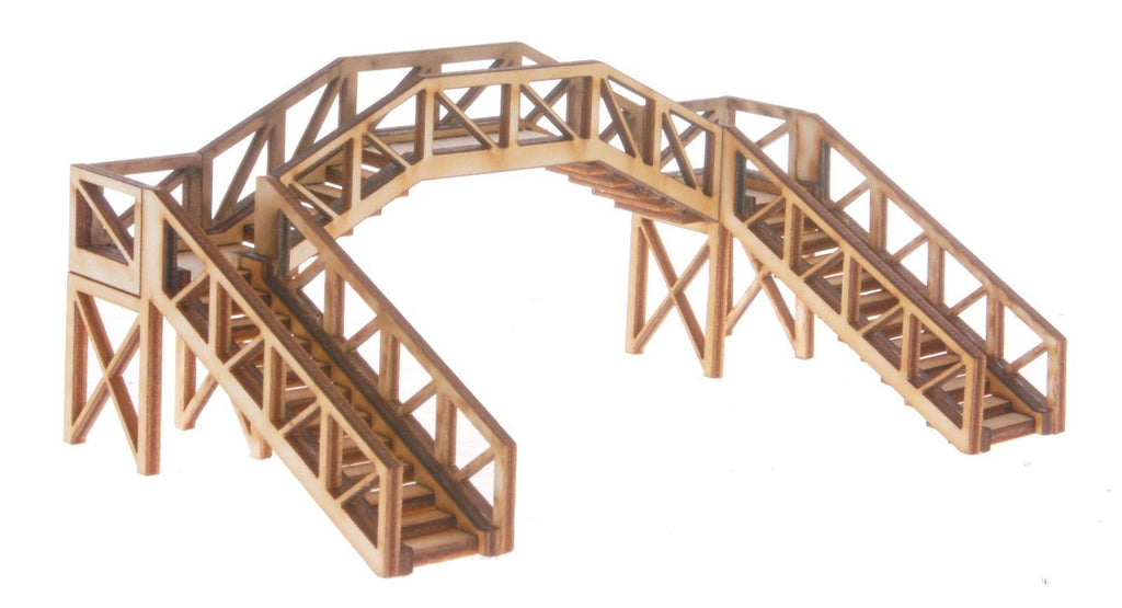 FB006 Platform Footbridge Single Track Span OO Gauge Model Laser Cut Kit