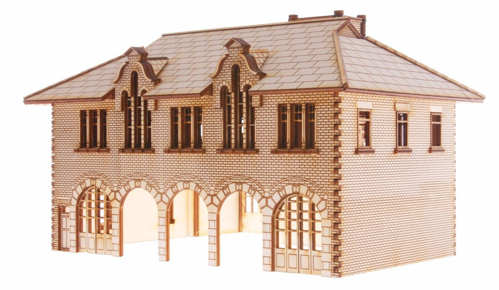 "FS004 ""Houghton"" Firestation OO Gauge Laser Cut Kit"