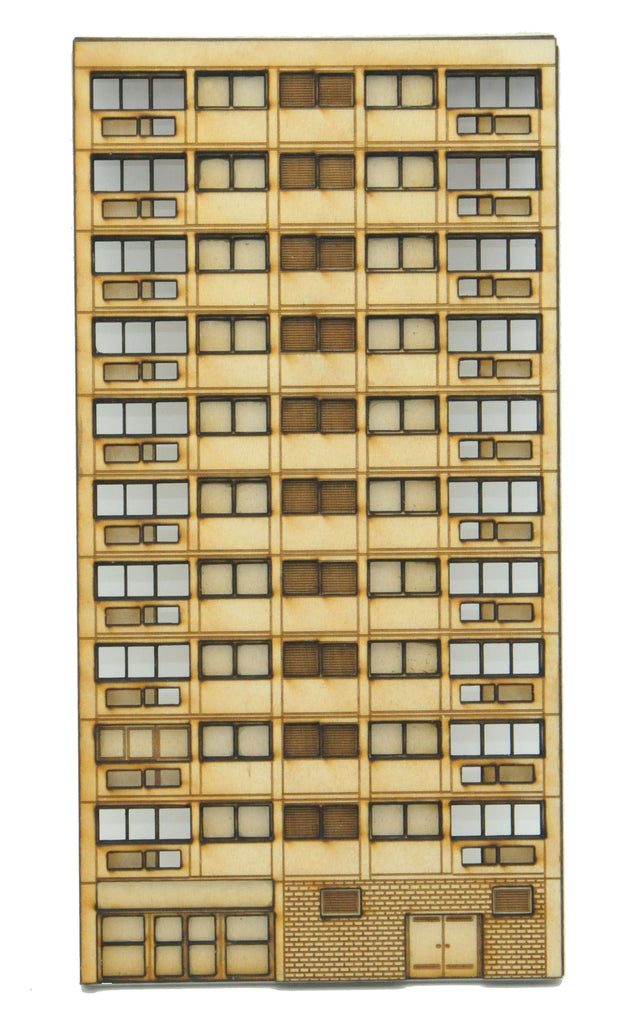 N-FL001 Left Hand Low Relief Block of Flats N Gauge Laser Cut Kit